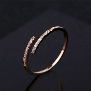 NEW ROSE GOLD DIAMOND RESIZEABLE STACK RING